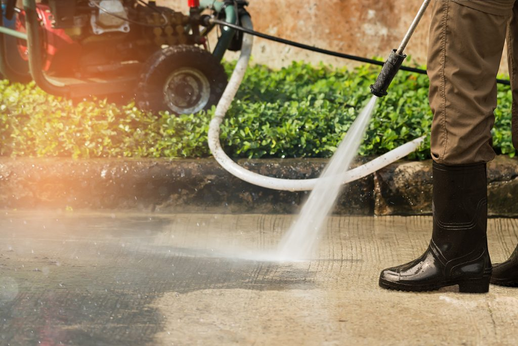 High-Pressure-Driveway-Cleaning